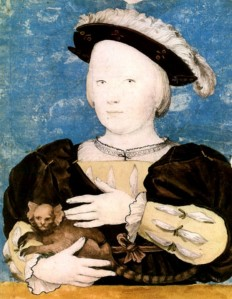 This is thought to be Henry Fitzroy, however some evidence suggests it could be his younger brother Edward, who came after Henrys death. Either way it seems the artist can paint children but not animals.