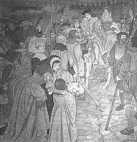 James IV & Margaret Tudor-marriage procession