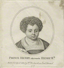 NPG D23868; Prince Henry aftwerwards King Henry VIII published by William Richardson